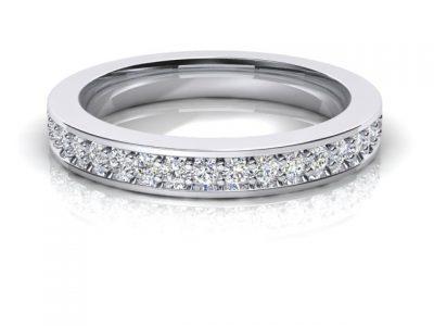 1 row bead set diamond ladies wedding band