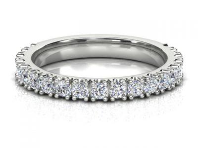 Claw set diamond ladies wedding ring