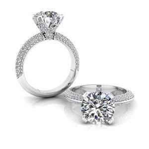 Round Brilliant Cut Diamond Engagement Ring - Robbie Chapman Jewellery